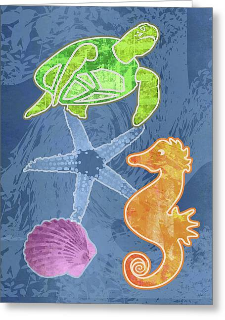 Sea Life Greeting Card by Mary Ogle