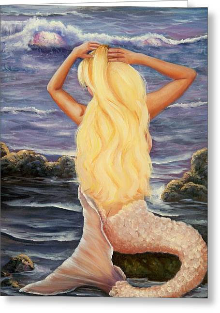 Greeting Card featuring the painting Sea Maiden by Joni McPherson