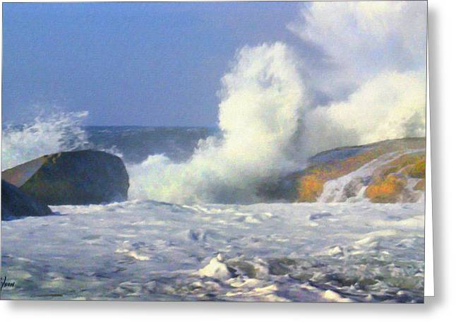 Sea Mist Greeting Card by Frank Wilson