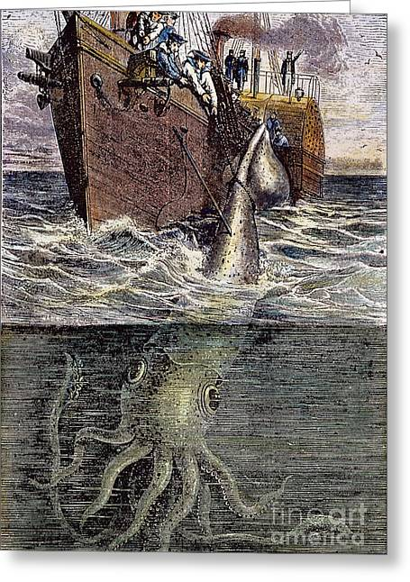Sea Monster Greeting Card by Granger