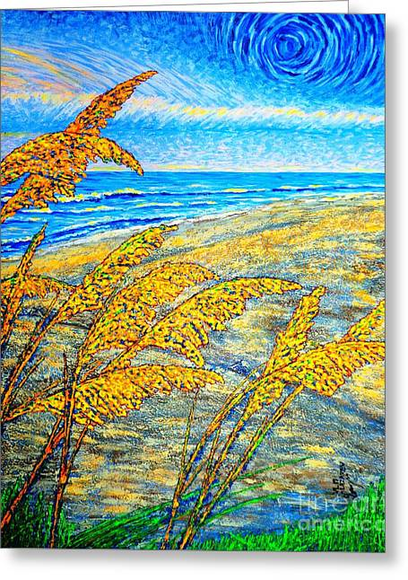 Sea Oats Dual#2 Greeting Card