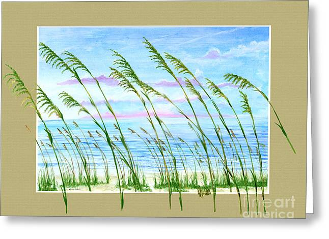 Sea Oats And Sea Greeting Card by Kevin Brant
