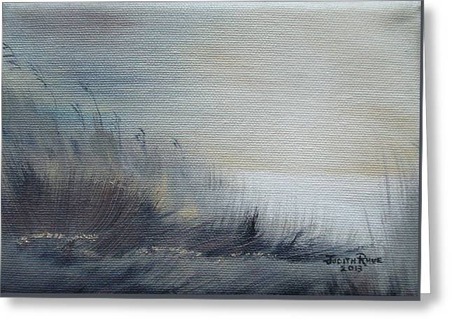 Greeting Card featuring the painting Sea Oats by Judith Rhue