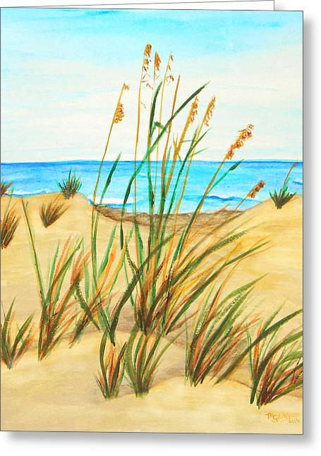 Sea Oats Greeting Card by M Gilroy