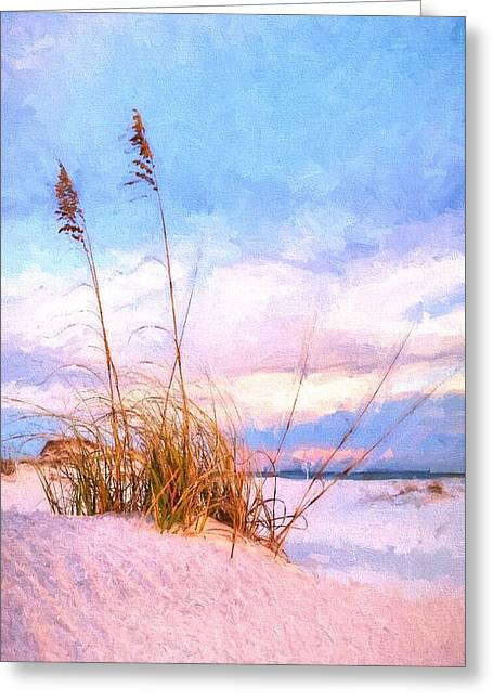 Sea Oats On The Island Greeting Card by JC Findley