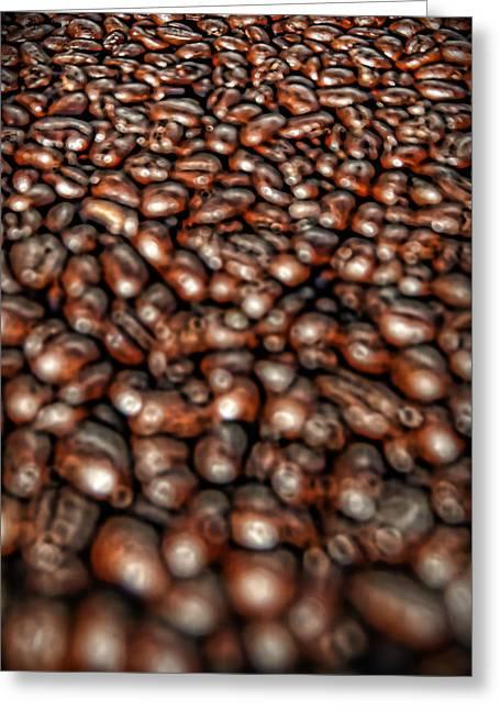 Sea Of Beans Greeting Card by Gordon Dean II