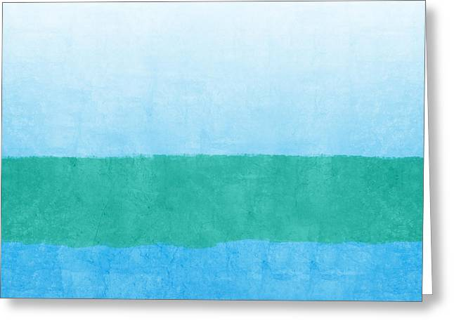 Sea Of Blues Greeting Card