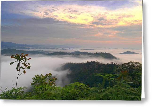 Sea Of Clouds At Panorama Hill Greeting Card by Edward Seah