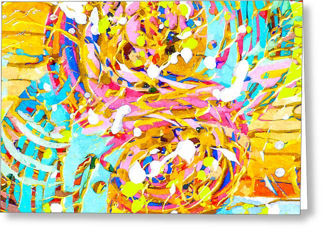 Sea Of Colors  Greeting Card by Stacey Chiew