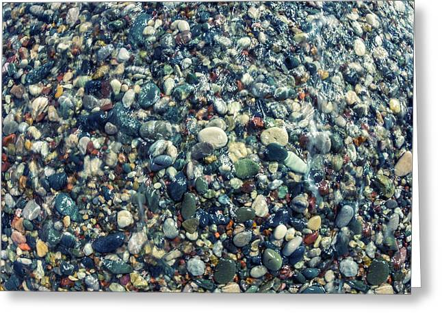 Sea Pebbles2 Greeting Card by Stelios Kleanthous