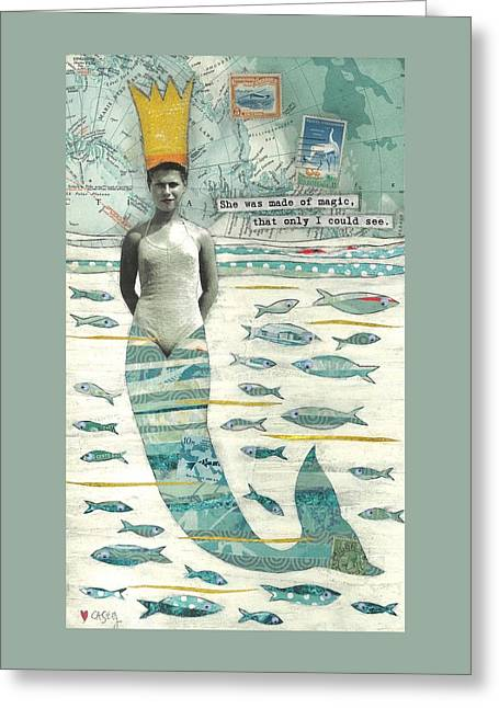 Greeting Card featuring the painting Sea Queen by Casey Rasmussen White