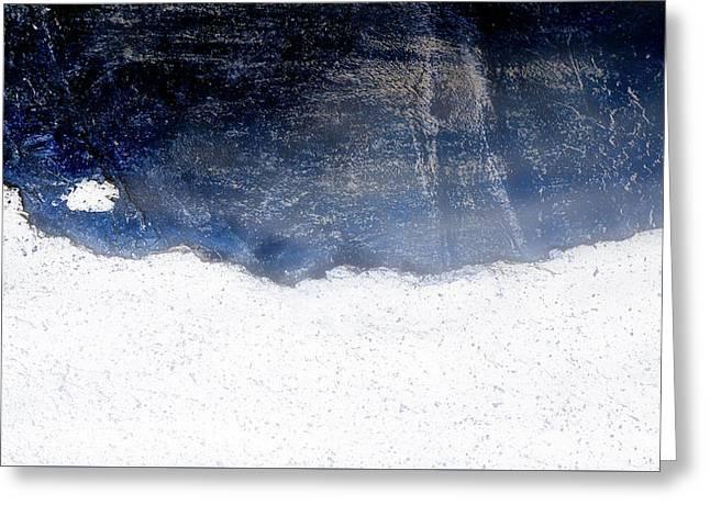 Sea, Satellite - Coast Line On Blue Ocean Illusion Greeting Card