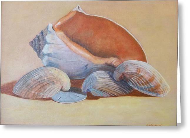 Sea Shells Greeting Card by Betty Henderson