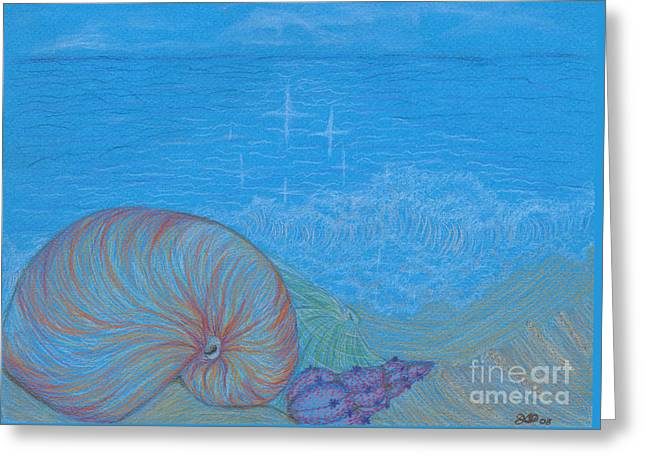 Sea Shore Greeting Card by Kim Sy Ok