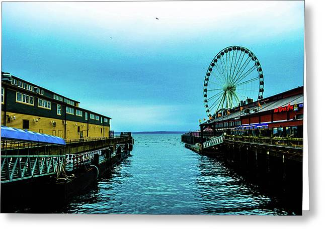 Sea Side, Seattle 2 Greeting Card