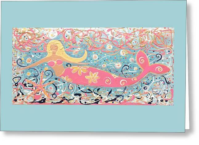 Sea Siren Blondie Greeting Card