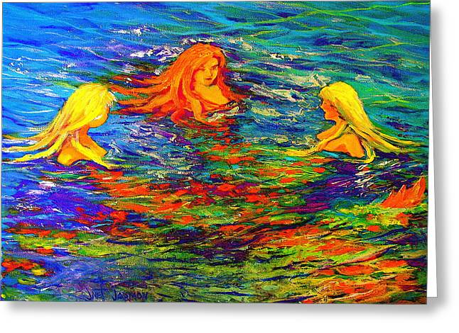 Sea Sisters Revisited Greeting Card by Jeanette Jarmon