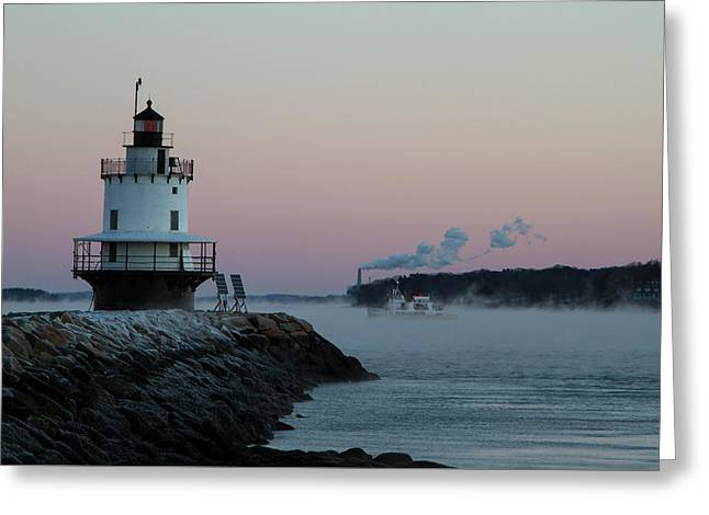 Greeting Card featuring the photograph Sea Smoke by Darryl Hendricks