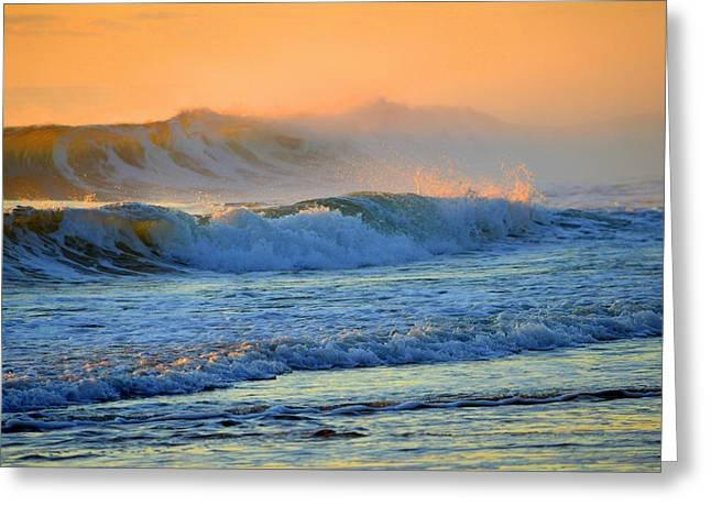 Sea Smoke Sunrise Greeting Card by Dianne Cowen