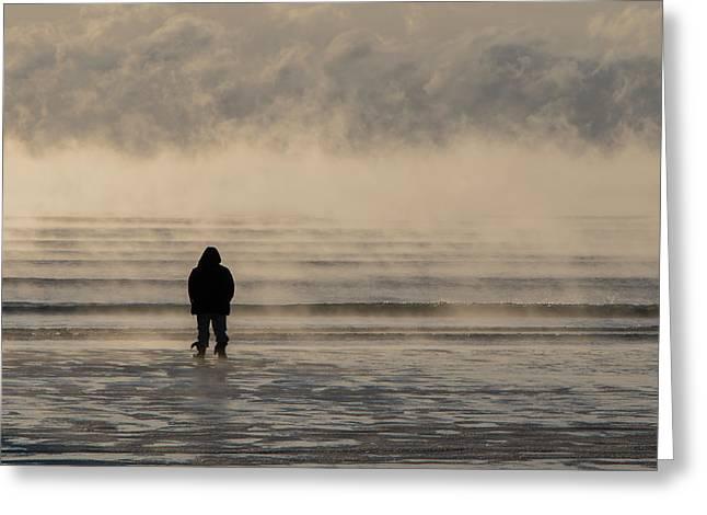 Sea Smoke Thinking Man Greeting Card