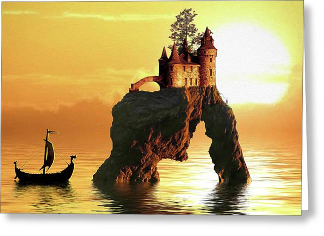 Sea Stack Castle Greeting Card
