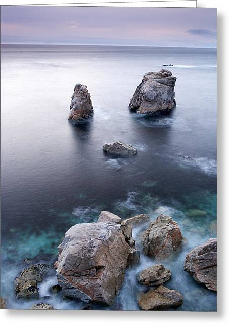 Sea Stacks Greeting Card by Eric Foltz