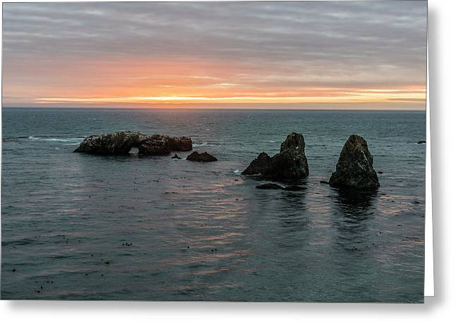 Sea Stacks In Sea Ranch Greeting Card