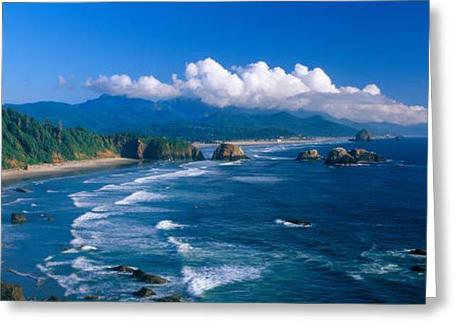 Sea Stacks Rock Formations, Cannon Greeting Card by Panoramic Images