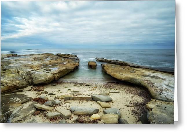 Sea Stone Sky Greeting Card by Joseph S Giacalone