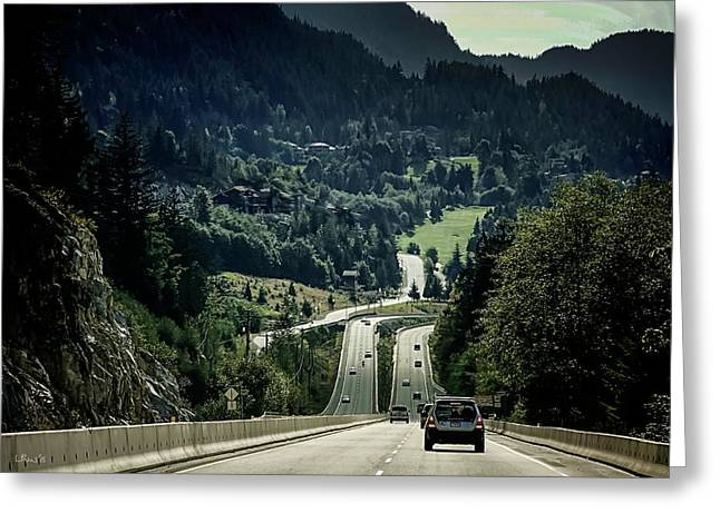 Sea To Sky Highway Greeting Card