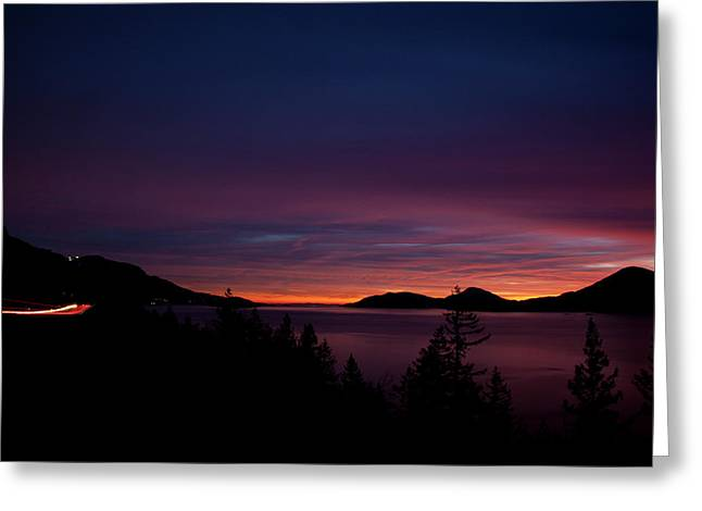 Sea To Sky Sunset Greeting Card by Monte Arnold