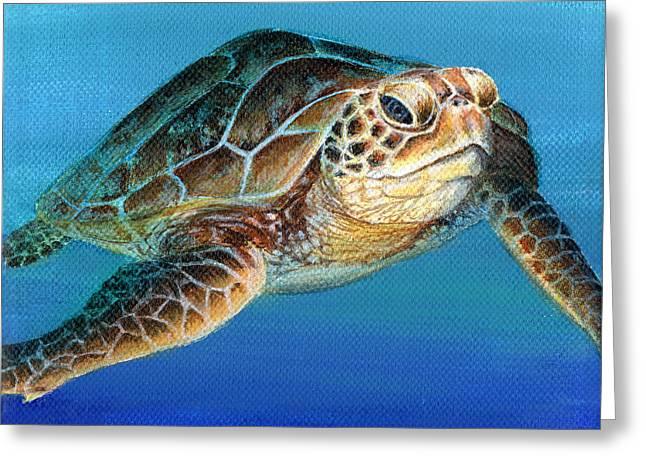 Sea Turtle 1 Of 3 Greeting Card
