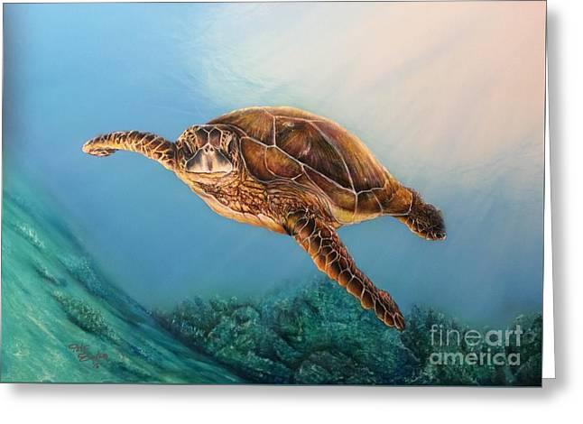 Sea Turtle 1 Greeting Card