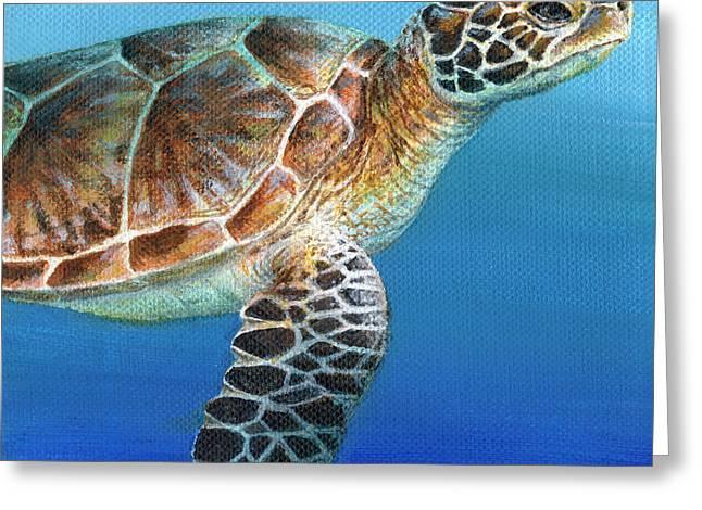 Sea Turtle 2 Of 3 Greeting Card