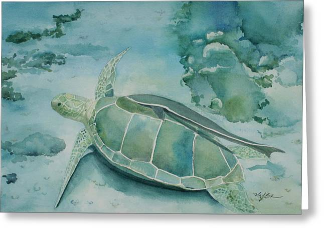 Sea Turtle And Friend Greeting Card