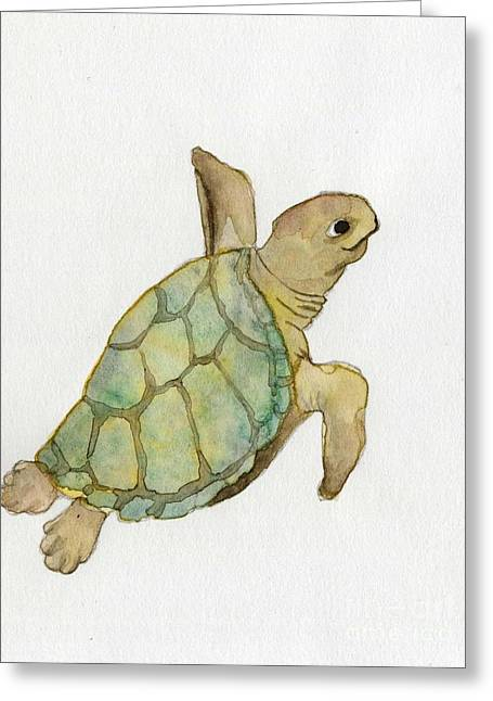 Sea Turtle Greeting Card by Annemeet Hasidi- van der Leij