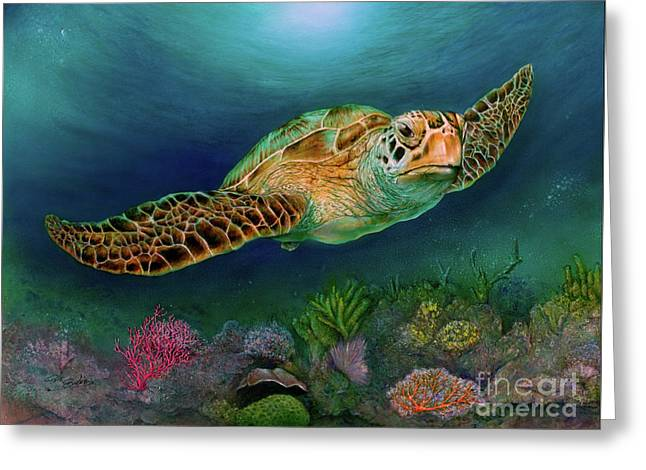 Sea Turtle II Greeting Card