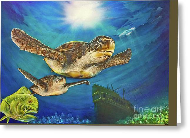 Sea Turtle IIi Greeting Card