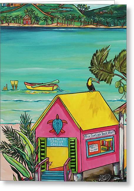 Greeting Card featuring the painting Sea Turtle Rescue Center by Patti Schermerhorn