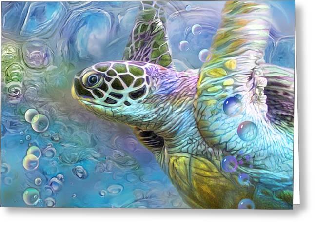 Sea Turtle - Spirit Of Serendipity Greeting Card