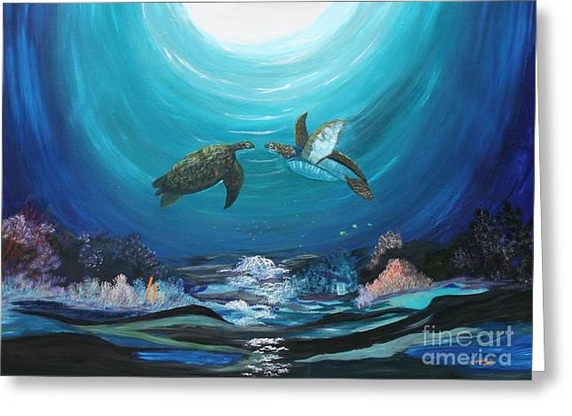 Sea Turtles Greeting Greeting Card