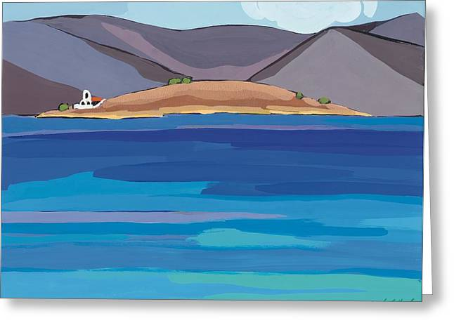 Sea View And Chapel Greeting Card by Sarah Gillard