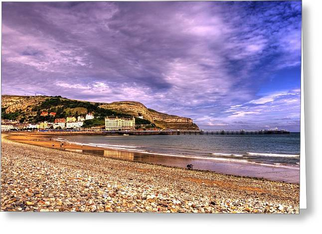 Hill Town Greeting Cards - Sea View Town Greeting Card by Svetlana Sewell