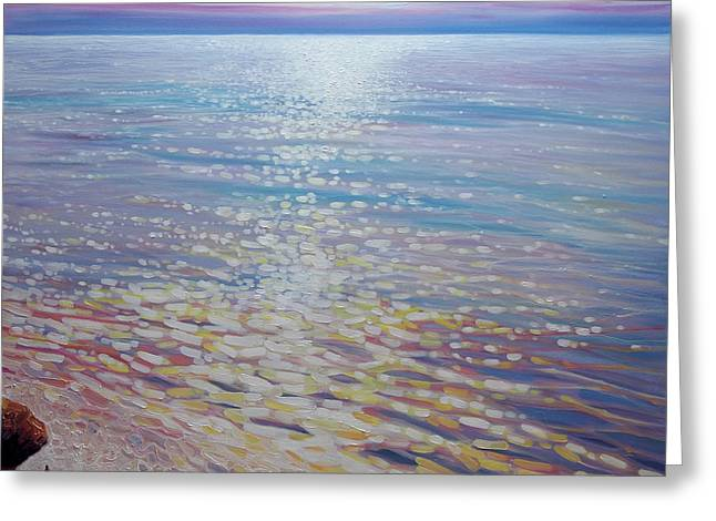 Sea Watching - A Large Seascape Greeting Card by Gill Bustamante