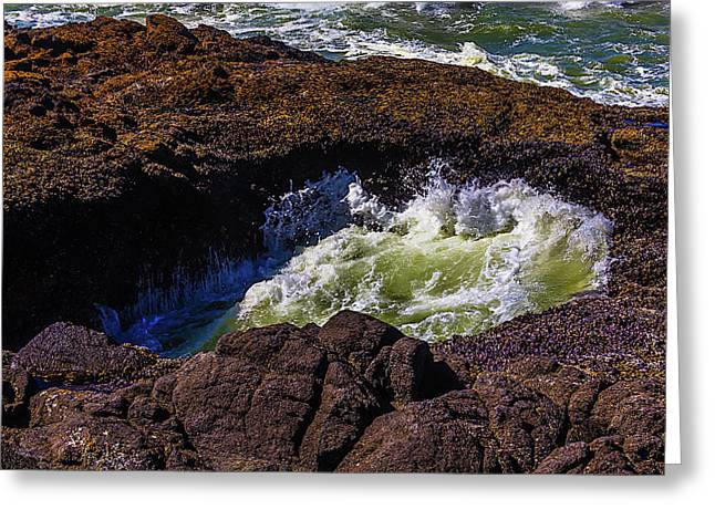 Sea Water In Thor's Well Greeting Card
