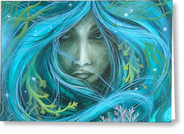 Sea Witch Greeting Card by Amanda Clark