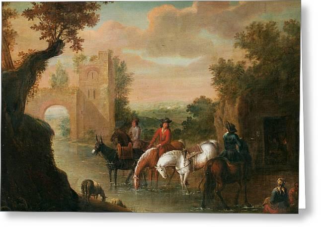 seaAdam Frans van der Meulen Flandern Greeting Card