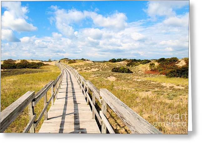 Seabound Boardwalk Greeting Card