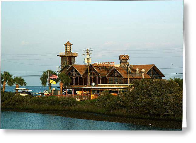 Cedar Key Greeting Cards - Seabreeze Building - Cedar Key Greeting Card by Kathi Shotwell