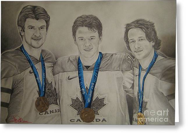 Seabrook Toews Keith Gold Medal Greeting Card by Brian Schuster